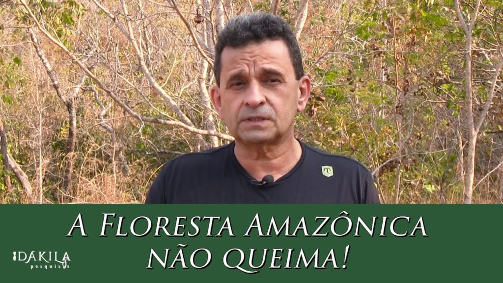Urandir Fernandes de Oliveira afirma que Floresta Amazônica não queima